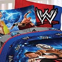 WWE Wrestling Boys Full Comforter & Sheet Set (5 Piece Bedding) by Franco Manufacturing