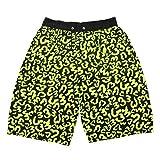 (ラボーグ)La vogue ボードショーツ メンズ ハーフパンツ ウエストゴム紐 ビーチウェア パターン ポケット 海 蛍光緑 ブラック 多サイズ展開