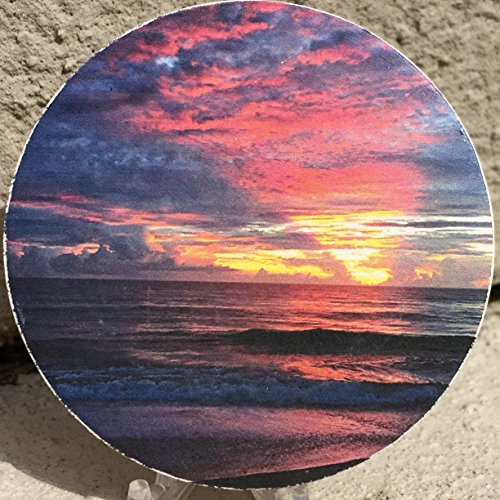 Sunrise vilano beach car coaster absorbent stone 2 5 st augustine cup holder home garden - Stone absorbent coasters ...