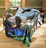 Collections Etc - Eagle Fleece Throw Blanket