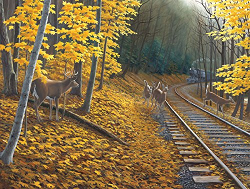 Fall Deer Tracks a 500-Piece Jigsaw Puzzle by Sunsout Inc.