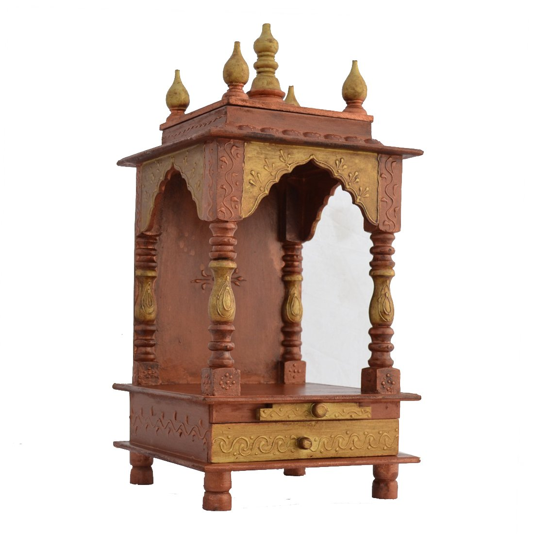 Wooden temple designs for home small temple for home wooden home - Folding Wooden Temple Wooden Mandir Wooden Mandapam For Home 272