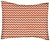 SheetWorld Twin Pillow Case - Percale Pillow Case - Orange Chevron Zigzag - Made In USA