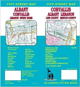 Corvallis/Albany/Lebanon/Sweet Home Street Map OR- GMJ written by GM Johnson %26 Associates Ltd.