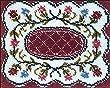 M.C.G. Textiles Latch Hook Kit, 25 by 20-Inch, Deena Floral Design
