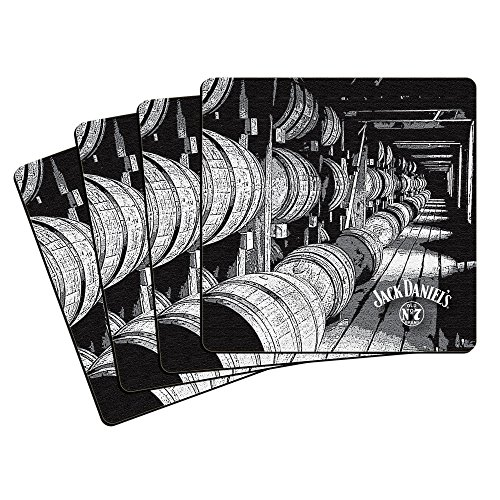 Boelter Brands Jack Daniel's Neoprene Coasters, 4-Pack