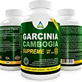 Prem Grade [★] 80% HCA Garcinia Cambogia Extract Supreme - 180 Count - 1400 Mg Serving, Max Absorption All Natural Supplement For Weight Loss, Improves Serotonin Levels | Zero Fillers, Binders and Artificial Ingredients (1 bottle)