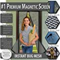 Premium Magnetic Screen Door - KEEP BUGS OUT.. Tough Mesh, Magnets Snap Shut Automatically. Lets Fresh Air In! by Premium Choice Products