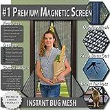 Premium Fliegengitter Tür mit Magnetverschluss. Magnetvorhang