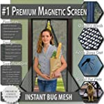 Premium Magnetic Screen Door - Instan...