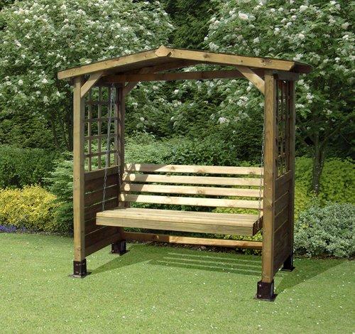 The Poseidon Swingseat Wooden Outdoor Garden Arbour Bench