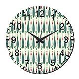 MeSleep Abstract Wall Clock With Glass Top - B016ZXYRF4