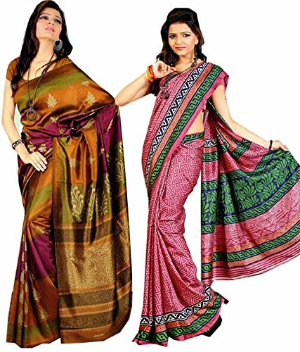 Miraan Combo of 2 Art Silk Sarees (CO006