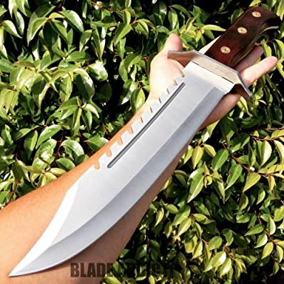 "16.5"" Full Tang Rambo Bowie Machete Tactical Survival Hunting Fixed Blade Knife"