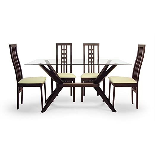 Magna 5-Piece Dining Set with Cabrina Chairs (Coffee)