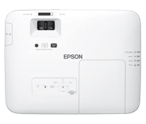 Epson Home Cinema 1450 1080p 4,200 lumens Color Brightness (Color Light Output) 4,200 lumens White Brightness 3LCD Projector with MHL (Certified Refurbished) (Color: White)