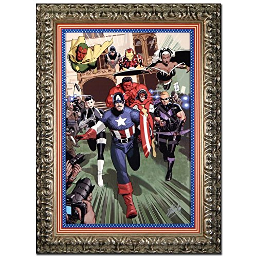 STAN LEE Signed Original Marvel Artwork Comics Captain America canvas framed COA Iron Man HULK (Marvel Signed Framed compare prices)