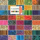 "Moda AURORA BATIKS Jelly Roll 2.5"" Precut Cotton Fabric Quilting Strips Assortment 4333JR"