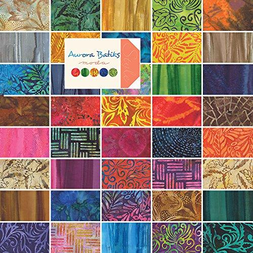 "Moda AURORA BATIKS Jelly Roll 2.5"" Precut Cotton Fabric Quilting Strips Assortment 4333JR primary"