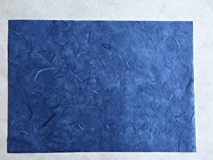Mixed Blue 8.5x12 Inches Mulberry Paper Sheet Design Craft Hand Made Art Tissue Japan Origami Washi Wholesale Bulk Sale Unryu Suppliers Thailand Products Card Making 50 Sheets