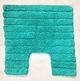 Modern Homes Green Stripe Design Cotton Tufted Contour (Mat)
