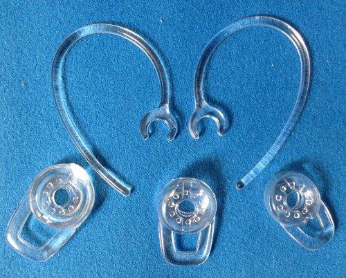Set 3Pcs Sml Earbuds 2Pcs Good Earhooks For Plantronics Marque M155 Marque 2 M165 Savor M1100 M100 M55 M28 M25 Headset Bluetooth Wireless Headset Earloops Earclips Eargels Eartips Ear Hook Loop Clip Bud Gel