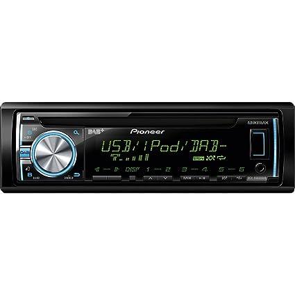 Pioneer DEH-X6600DABAN Autoradio CD/DVD Noir
