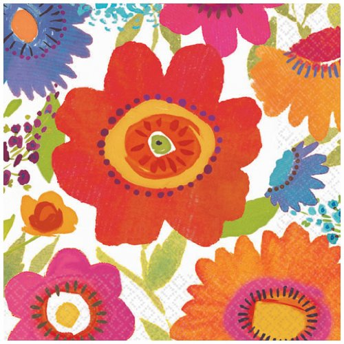 "Beverage Napkins 5""X5"" 16/Pkg-Floral Splash - 1"