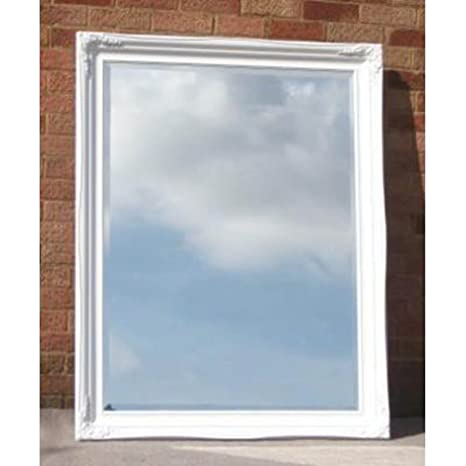 "Large Traditional White Mirror (4ft 7"" x 3ft 7"")"