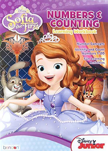 Sofia the First Numbers and Counting Workbook for Ages 4-6 (32 Pages) - 1