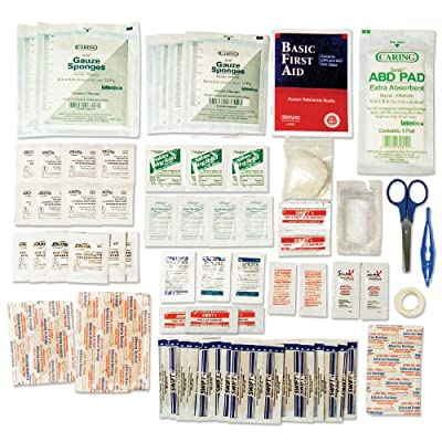 Tactical First Aid Kit: Lifeline 98-Piece Large Safe And Dry First Aid Kit by Lifeline First Aid Llc
