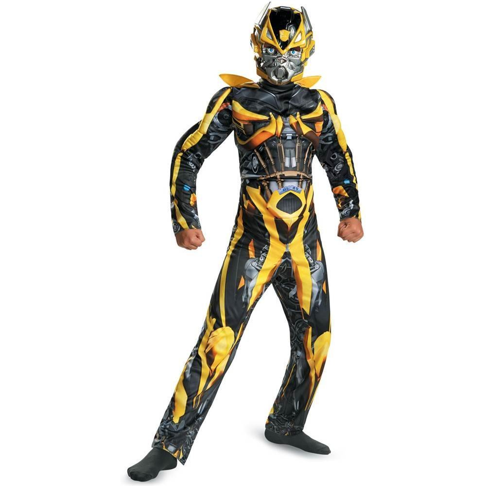 Disguise Hasbro Transformers Age of Extinction Movie Bumblebee Classic Muscle Boys Costume