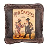 Big House Home Collection Red Dandies Cigar Home Accent Pillows, 16 by 16-Inch