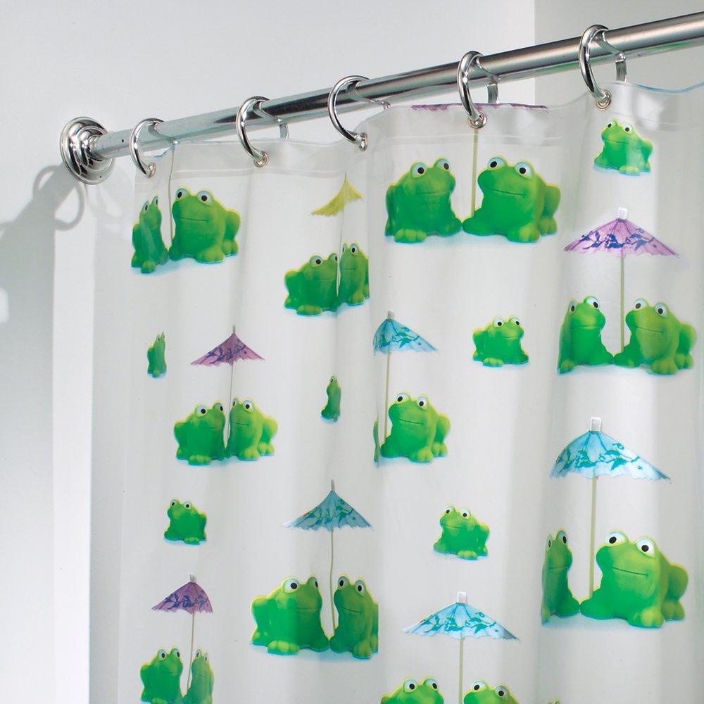 Frog Bathroom Decor. InterDesign Novelty EVA Shower Curtain, 72 X 72 Inch,  Frogs