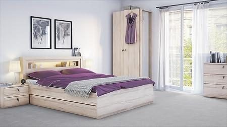 Schlafzimmer Set Torino 6-tlg. komplett Bett Schrank Nachttische Kommode Schublade