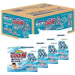 グーン 肌にやさしいおしりふき 詰替用 70枚×12個 (840枚)