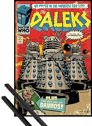 Poster + Sospensione : Doctor Who Poster Stampa (91x61 cm) Daleks, You Will Be Exterminated E Coppia Di Barre Porta Poster Nere 1art1®