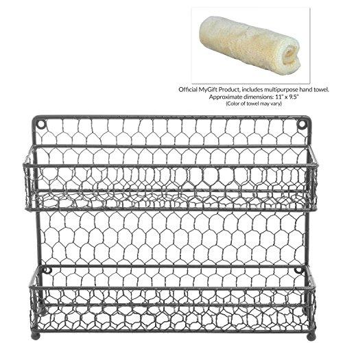 Countertop Spice Organizer : Dual Tier Wire Spice Rack Jars Storage Organizer (Kitchen Countertop ...