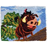MCG Textiles 52759  Latch Hook Pumbaa Disney Dreams Collection Kit by Thomas Kinkade for Rugs