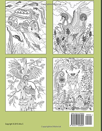 Happy Coloring: Fantasy Forest: Wonderful Animals Coloring Book: Volume 10