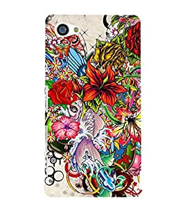Bunch of Different Flower 3D Hard Polycarbonate Designer Back Case Cover for Sony Xperia Z5 Compact :: Sony Xperia Z5 Mini