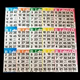 Bingo Paper Cards - 3 cards - 5 sheets - 100 packs of 5 sheets - 1500 cards