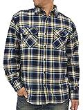 (ルーシャット) ROUSHATTE 大きいサイズ メンズ シャツ 長袖 チェック 16color 3L ブルー