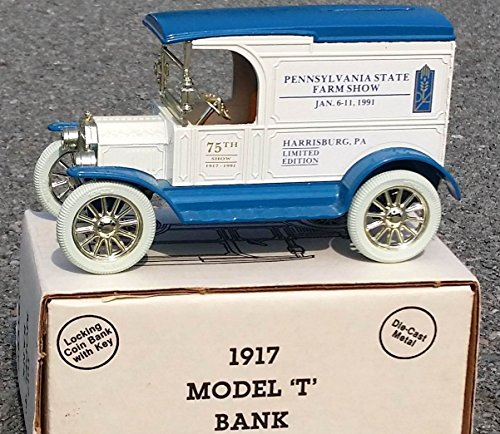 ertl-1991-pennsylvania-75th-pa-state-farm-show-1917-ford-model-t-bank-in-125-scale-diecast-metal