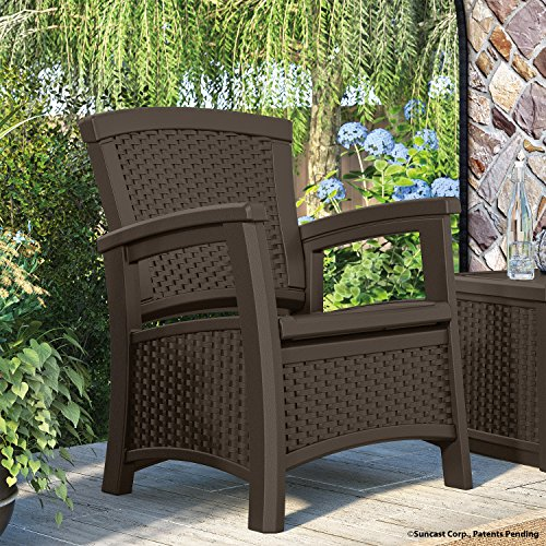 Patio chair storage comfortable seating outdoor furniture for Comfortable lawn furniture