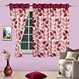 Cortina Stallion 2 Piece Window Curtain Set - 5 ft x 4 ft, Maroon