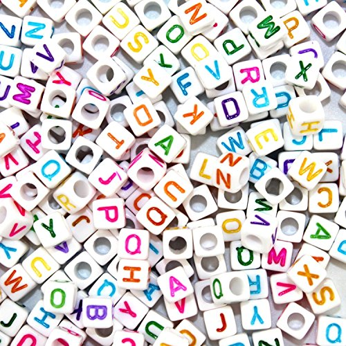 A-Little-Lemon-500pcs-Mixed-White-Acrylic-Plastic-Beads-With-Colorful-Letters-Alphabet-Letter-A-z-Cube-Beads-Size-6x6mm-or-14-for-Braceletsnecklaces-Key-Chains-and-Kid-Jewelry