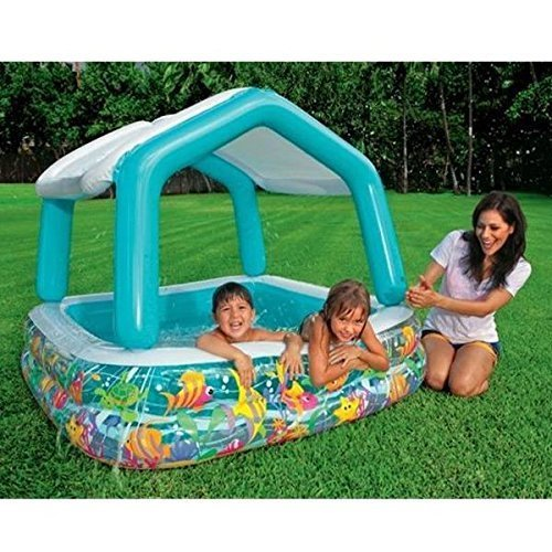 Sun Shade Kids Paddling Pool Ball Pit Garden Splash Swimming by Intex günstig online kaufen