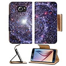 buy Msd Samsung Galaxy S6 Flip Pu Leather Wallet Case Stars Of A Planet And Galaxy In A Free Space Image 26050377