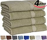 Utopia Extra Thick and Plush Bath Towels - Sage Green - Pack of 4